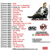 "MIXTAPE} BEST OF DUNCAN MIGHTY MIX - (hosted by ) "" DJ BRIGHT CHIMEX"""